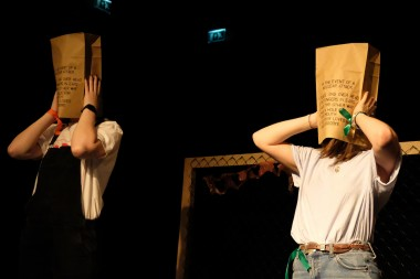 Theatre - paper bags on head